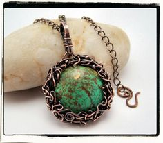 One of my personal favs - turquoise in a copper nested bezel