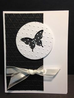 Elegant Butterfly Punch, Negative Space Technique, Stampin' Up!, Rubber Stamping, Handmade Cards, Card Techniques