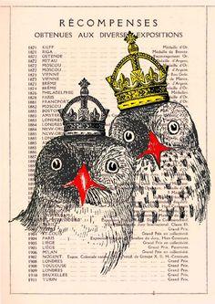 CROWNED OWLS♥~㋡㋡~♆ art