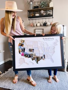 Photo Maps, Map Maker, Travel Maps, Travel Photos, My New Room, Photo Displays, Home Projects, Family Travel, Playroom