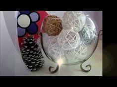 DIY - Enfeite de Natal 2015: Bola de Barbante com glitter - fácil e barato (bolinha de barbante)