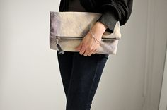 Why not make your own big foldover clutch?