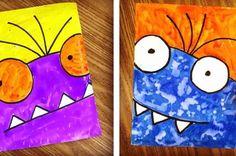 Super Close Up Monsters. (Oct 2015) new art project for kids every day.