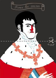 Arnal Ballester Fernando Vii, History Books, Graphic Illustration, Illustrators, Illusions, Disney Characters, Fictional Characters, Concept, Comics