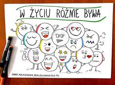 Myślenie wizualne, kurs online, e-book, sketchnoting Preschool Spanish, Hand Lettering, Psychology, Coaching, Classroom, Teacher, Gw, Humor, Education