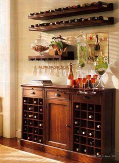 creative diy wine rack wall decor ideas for your home, office or bar. Wine Glass Shelf, Glass Shelves, Glass Rack, Floating Shelves, Wine Rack Design, Wine Rack Wall, Wine Wall Decor, Wine Rack Shelf, Ideas Para Organizar