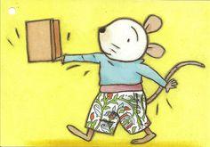 (2014-08) Nellie går med en kasse på hånden