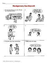 Printable Story of the Montgomery Bus Boycott - Black History Lesson for Kids