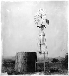 'Wind Pump', by Stephen Inggs, Hand-coated silver gelatin emulsion on rag paper. Brand Symbols, Old Windmills, South African Artists, Simple Acrylic Paintings, Africa Art, Windy Day, African Design, Source Of Inspiration, Landscape Art