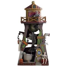SKU 93410 - Released in 2020 as a Table Accessory for the Spooky Town Village Collection. Village Lemax, Lemax Christmas Village, Christmas Shopping Online, Online Shopping, Halloween Village Display, Spring Water, Table Accessories, Water Tower, Animation