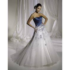I love this - http://casualweddingdresses.net/blue-wedding-dress-get-blued-on-your-wedding-day/
