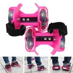 Promo 3 Colors Light Flashing Roller Small Whirlwind Pulley Adjustable Simply Roller Skating Shoes #Roller #Skate #Wheels