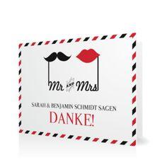 Dankeskarte Mr & Mrs