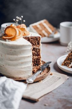 This delicious Carrot Cake is the perfect choice for special occasions or just because it's Sunday! Packed full of carrots, cinnamon and walnuts, it's paired with tangy Orange Cream Cheese frosting and will quickly become your favourite! Fun Baking Recipes, Cake Recipes, Dessert Recipes, Easter Recipes, Cake With Cream Cheese, Cream Cheese Frosting, Cupcakes, Cupcake Cakes, Poke Cakes