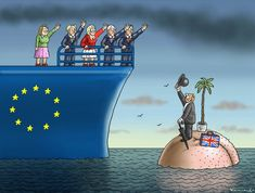 Marian Kamensky (2016-06-16) Europe - UK: GOOD BYE BREXIT ! Political Comics, Political Satire, Political Views, Brexit Remain, Brexit Humour, Caricatures, Agra Fort, Street Art Banksy, Little Britain