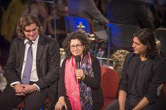 Detrás del Telón: La flauta mágica. Konstantin Chudovsky (director musical), Miryam Singer (directora de escena, escenografía y vestuario) y Joel Prieto (Tamino). Foto: Patricio Melo.