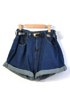 relaxed-high-waistline-jean-shorts-with-waistband