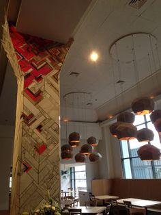 Kate Jessup mosaic pillar. Geometric pattern