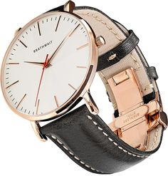 The classic slim wrist watch: Melano top grain Italian calf leather strap – Brathwait