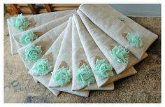 mint burlap clutch blue rustic black gold gray Set 9 purse mint rag rose clutch burlap Bridesmaid wedding rustic Personalize gift MakeUp