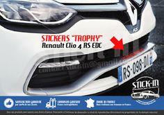 Renault Clio 4 RS EDC Trophy 220 Stickers Autocollants Parechoc Front Bumper | eBay