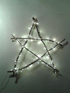 Kerst ster gemaakt van takken