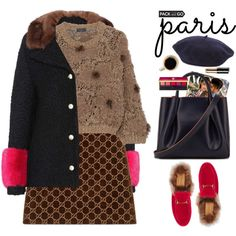 Pack and Go: Paris Fashion Week by beebeely-look on Polyvore featuring Brunello Cucinelli, Gucci, Alexandra de Curtis, Helene Berman, Yves Saint Laurent, Bobbi Brown Cosmetics, parisfashionweek and Packandgo