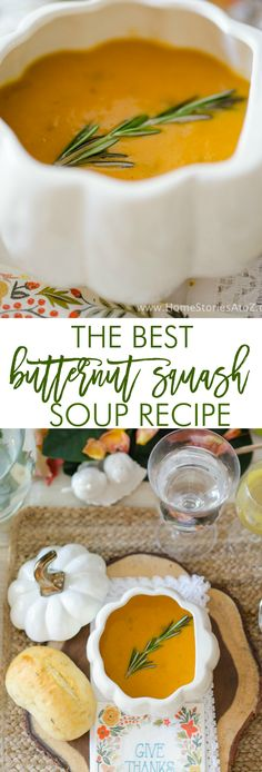 This is the best butternut squash soup recipe--it is like an autumnal hug for your mouth! Made with roasted butternut squash, honeycrisp apples, leeks, onions, and ginger it has all the flavors of fal Best Butternut Squash Recipe, Roasted Butternut Squash Soup, Tostadas, Fall Recipes, Carrot Recipes, Cabbage Recipes, Potato Recipes, Spinach Recipes, Cauliflower Recipes