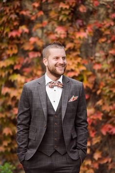 For a fall groom this really looks terrific!! #Weddings #WeddingAttire