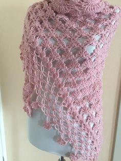 Crochet shawl pink shawl bridal Wrap prom bolero crochet   Etsy Crochet Triangle, Crochet Circles, Crochet Shawls And Wraps, Crochet Scarves, Knitted Capelet, Bolero Crochet, Pink Shawl, Bridal Shrug, Bridal Cover Up