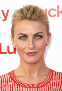Wedding Hairstyle Ideas For Short-Haired Brides: : Giving your updo volume in the front, like Julianne Hough did here, allows your pretty makeup to shine.