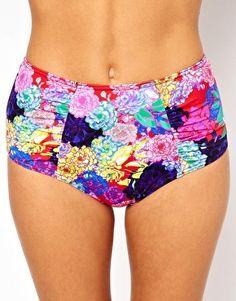 ASOS Penelope Floral High Waist Bikini Pant
