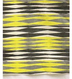 1950s yellow geometric fabric