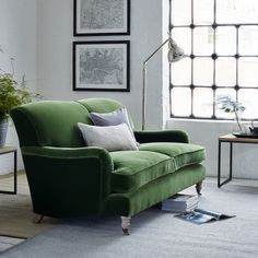 A grande, classic English sofa with deep, generously filled cushions, a comfy high backrest and low, finely pleated arms. Explore in detail online or in-store. Living Room Green, Flat Interior, Sofa Armchair, Furniture, Sofa, Modern Living Room Interior, Sofa Furniture, Classic Sofa, Sofa Set
