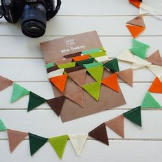Feeling that woodland vibe this morning! Throwing a woodland themed baby shower? Use our felt bunting and tgen mum can take it home to decorate the nursery with afterwards! :) Sold in 3 metre lengths.