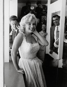 """ ""marilyn monroe at the opening of the Time-Life Building 1957 "" """