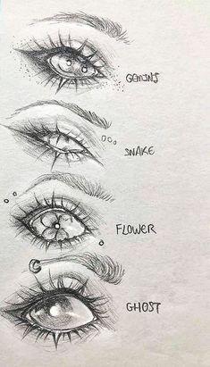 Dark Art Drawings, Art Drawings Sketches Simple, Pencil Art Drawings, Cool Drawings, Sketches Of Eyes, How To Sketch Eyes, Drawings Of Faces, Ideas For Drawing, Eye Sketch