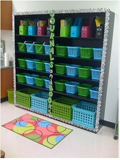 lime green and color scheme classroom  | want lime green, aqua, and bright blue! Love that combo!