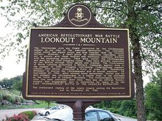 Lookout Mountain Chattanooga- American Revolutionary War Battle