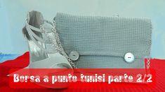 Tutorial borsa a uncinetto punto tunisi 2/2 | Tunisian stitch bag tutorial