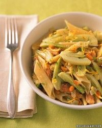 Pea and Bean Pasta Salad - Citrusy and cilantro-packed, this dish pairs well with grilled chicken or tuna. It would be equally delicious with mint, parsley or a combination of fine herbs.