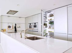 Integrated appliances. Integrated Fridge. Kitchen Design | bulthaup Exeter | Sapphire Spaces - bulthaup b3 kitchen.