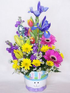 Peter Cottontail Easter arrangement