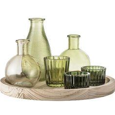 Bloomingville Green Glass Vases & Votive Set – Beaumonde