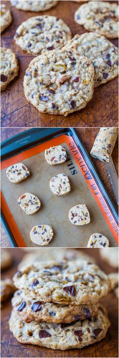 Slice-and-Bake Oatmeal Raisin Chocolate Chip Cookies - Forget storebought dough-in-a-tube & make your own slice-and-bake cookies! Bake only as many as you need of these soft & chewy cookies packed with chocolate chips!