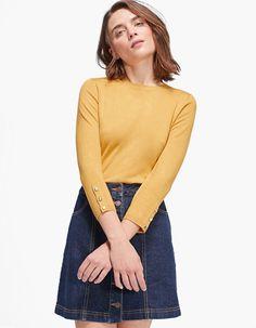 Basic fitted sweater - Knitwear | Stradivarius Romania