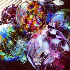 My mouth blown glass balls