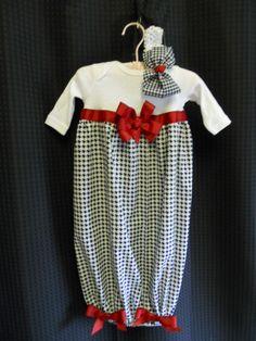Boutique Alabama Roll Tide Infant Girls Layette set Perfect for that true Alabama Fan. $34.99, via Etsy.