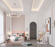 Luxury Kids Bedroom, Room Design Bedroom, Girl Bedroom Designs, Room Ideas Bedroom, Home Room Design, Kids Room Design, Modern Bedroom, Bedroom Decor, Baby Kind