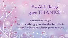 Prayer: For All Things Give Thanks!
